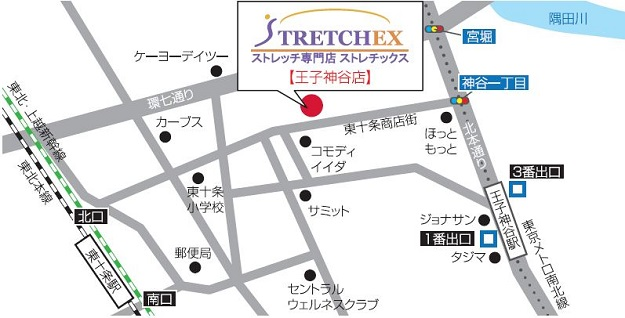 王子神谷店 地図